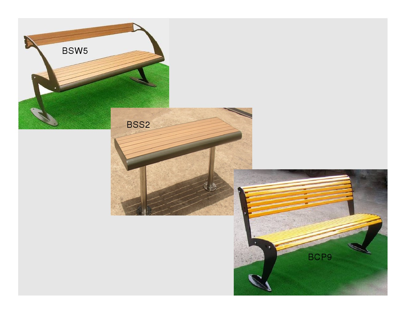 SAFLOW Mall Range Benches / Wooden Benches