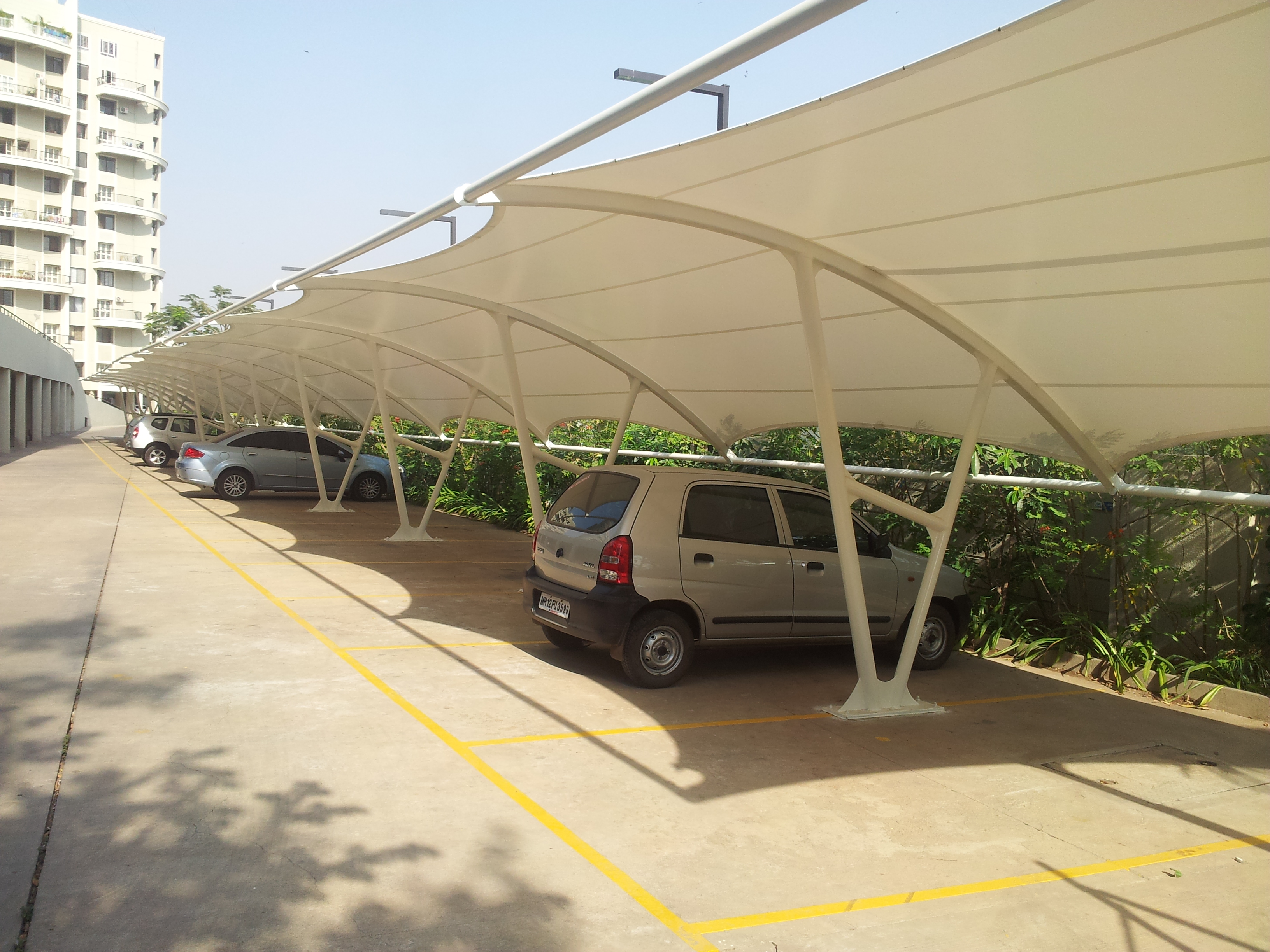 Bus Shelters Car Shelters Saflow Products Pvt Ltd