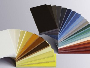 Colored Cement composite panels